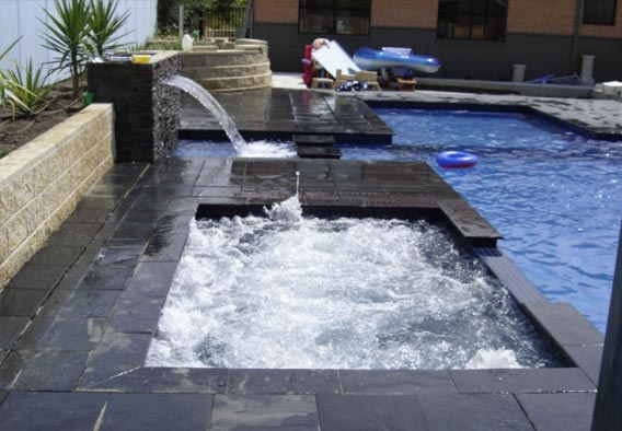 Black Limestone Pool Coping