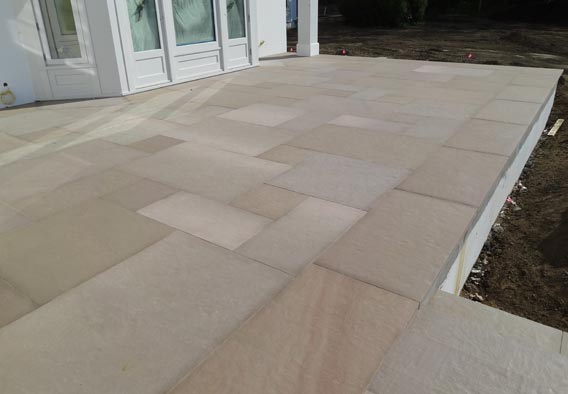 Brown Sandstone Flamed Finish