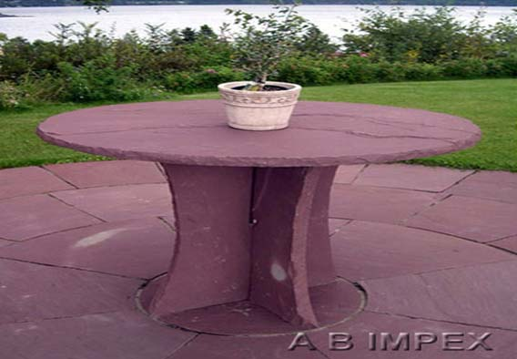Chocolate Sandstone Table