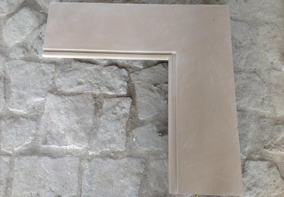 Corner Coping Yellow Sandstone