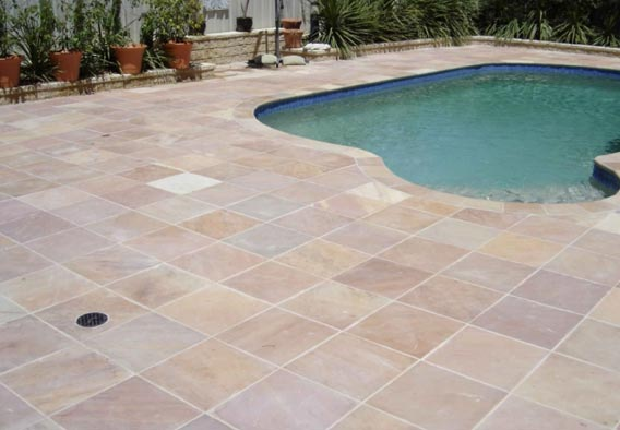 Dusty Pink Sandstone Pool Surround