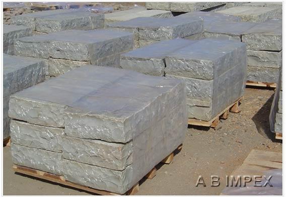 Grey Limestone Steps