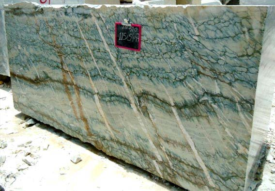 Indigo Green Marble Block