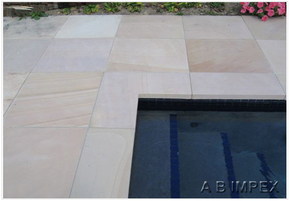 Mint Honed Sandstone Pool Surround