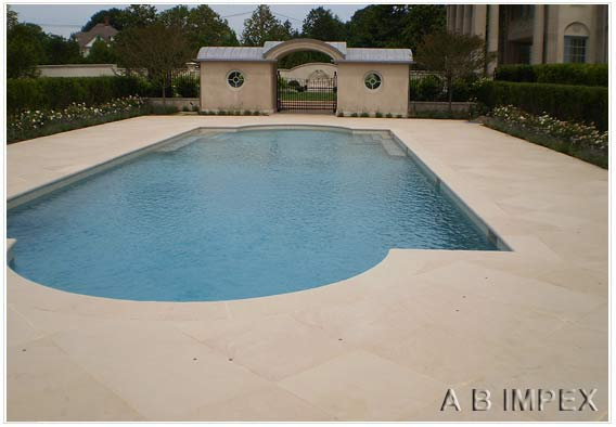 Beige Sandstone Natural Finish Pool Coping