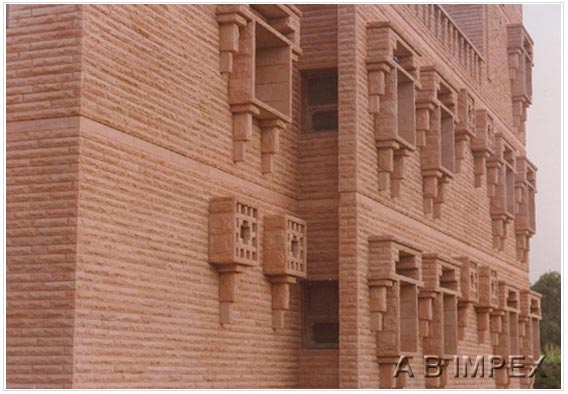 Pink Sandstone Strips Cladding