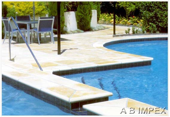 Mint Sandstone Pool Coping