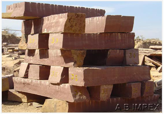 Red Sandstone Block