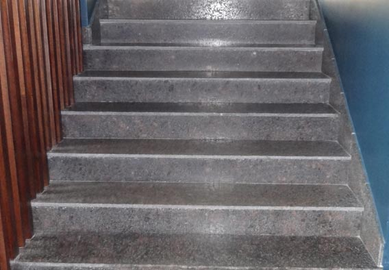 Stair Treads Tan Brown Leather Finish