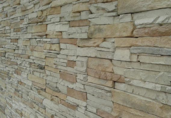 Tinted Mint Sandstone Stack Cladding