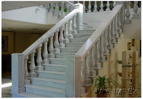 White Marble Stair Treads