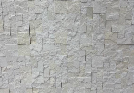 White French Pattern - Rockface Cladding