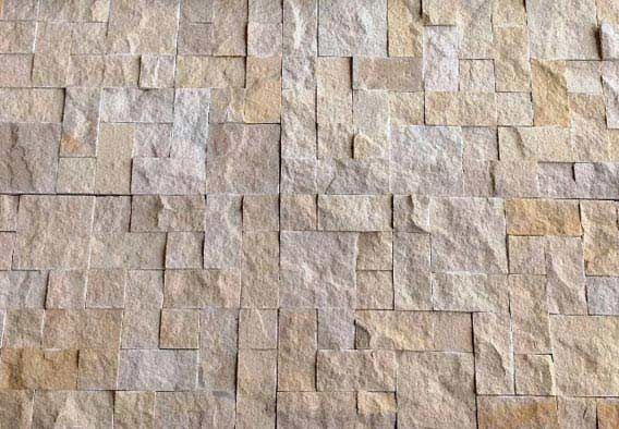 Yellow French Pattern - Rockface Cladding